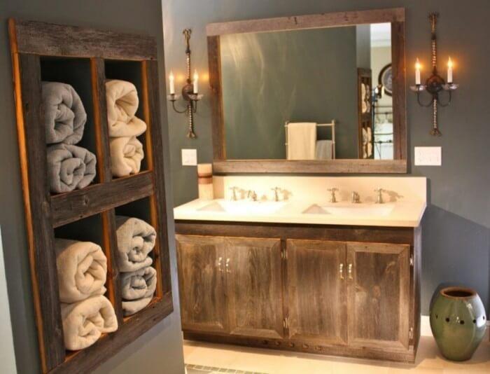 19 farmhouse bathroom design decor ideas homebnc - 23 Super Farmhouse Bathroom Decor Ideas