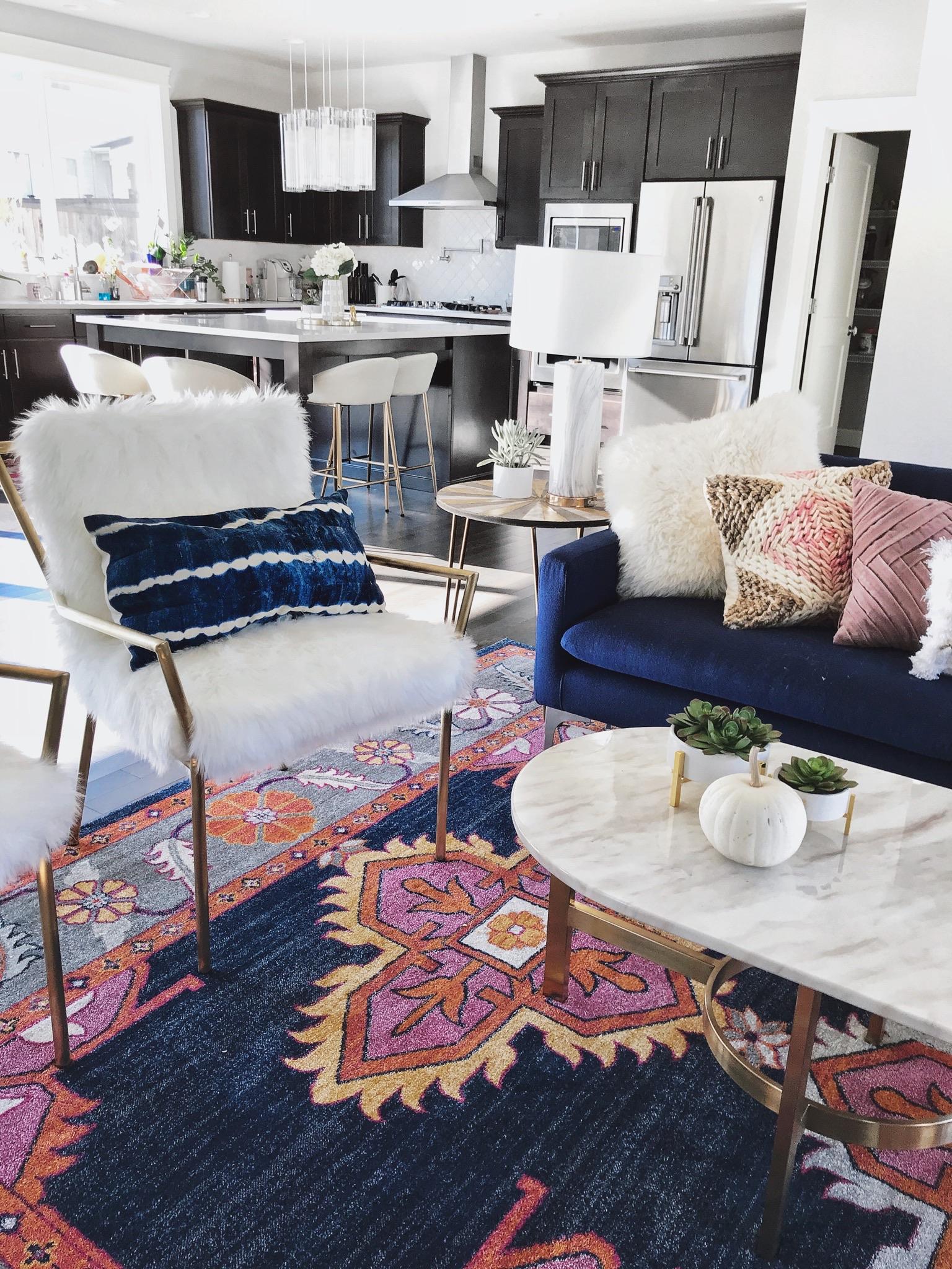 boho chic living room on a budget