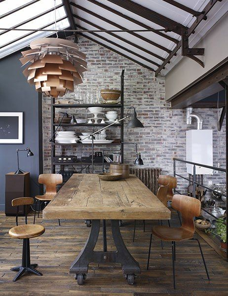 1553962136 911 how to create an industrial dining room - How To Create An Industrial Dining Room
