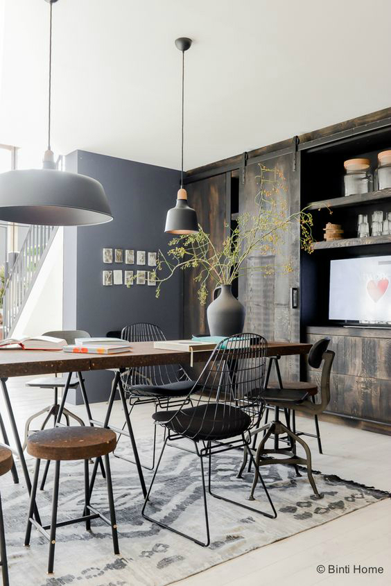 1553962137 904 how to create an industrial dining room - How To Create An Industrial Dining Room