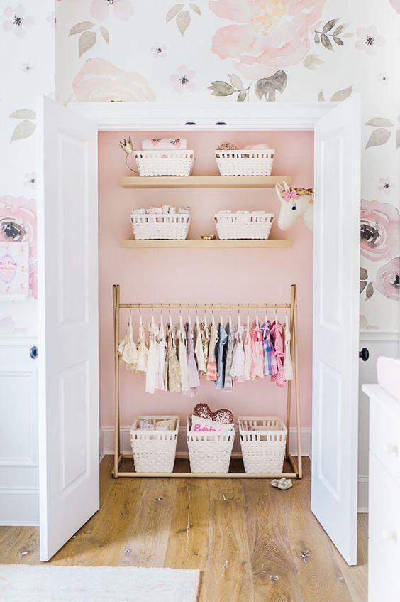 pink closet inside