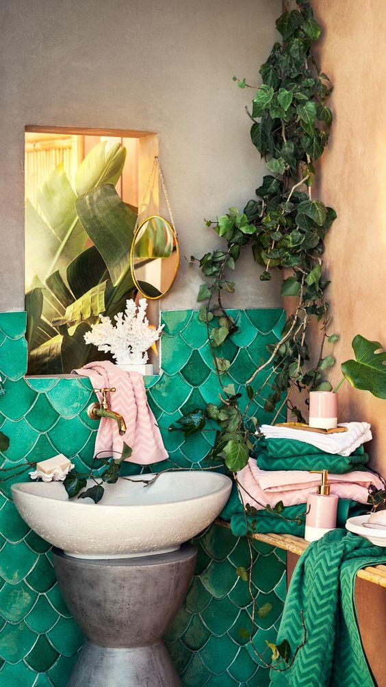 1553973207 659 20 bohemian bathroom ideas - 20 Bohemian Bathroom Ideas