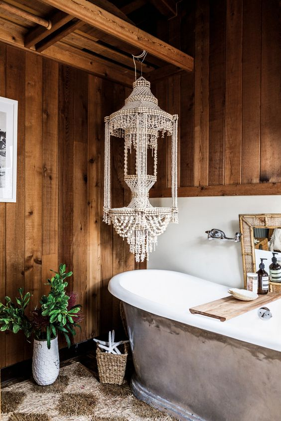 1553973208 101 20 bohemian bathroom ideas - 20 Bohemian Bathroom Ideas
