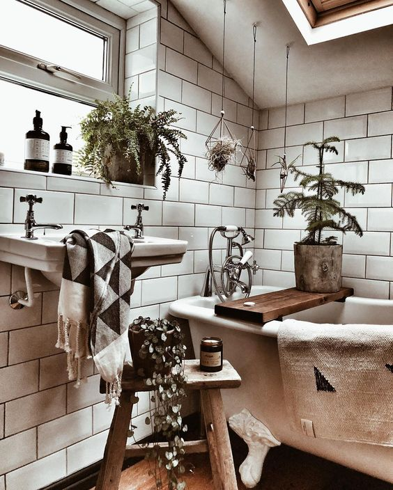 20 bohemian bathroom ideas - 20 Bohemian Bathroom Ideas