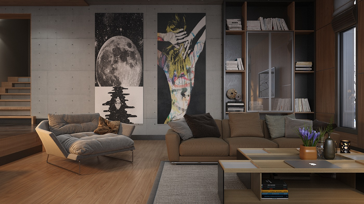 Beautiful Living Rooms With Modern Art Eclectic Design Apartment Living - 53 Cool Living Rooms With Irresistible Modern Appeal
