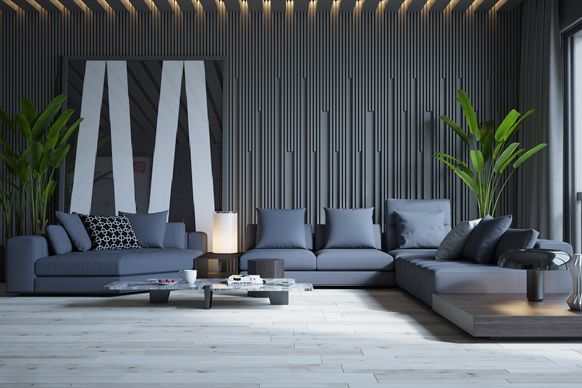 Beautiful Monochrome Living Rooms With Sectional And Black And White Wall Art - 53 Cool Living Rooms With Irresistible Modern Appeal