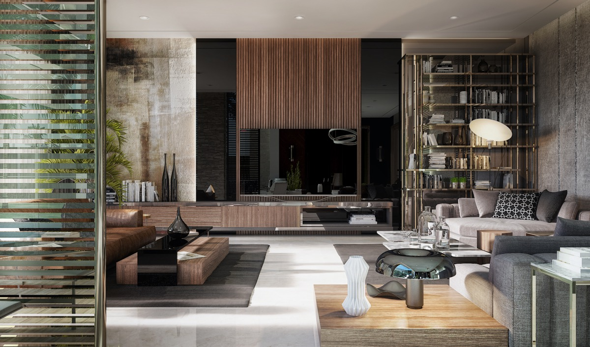 Pictures Of Beautiful Living Rooms Coastal Style With Wood Accents And Neutral Color Palette With TV - 53 Cool Living Rooms With Irresistible Modern Appeal