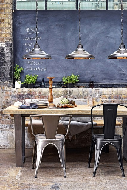 how to create an industrial dining room - How To Create An Industrial Dining Room