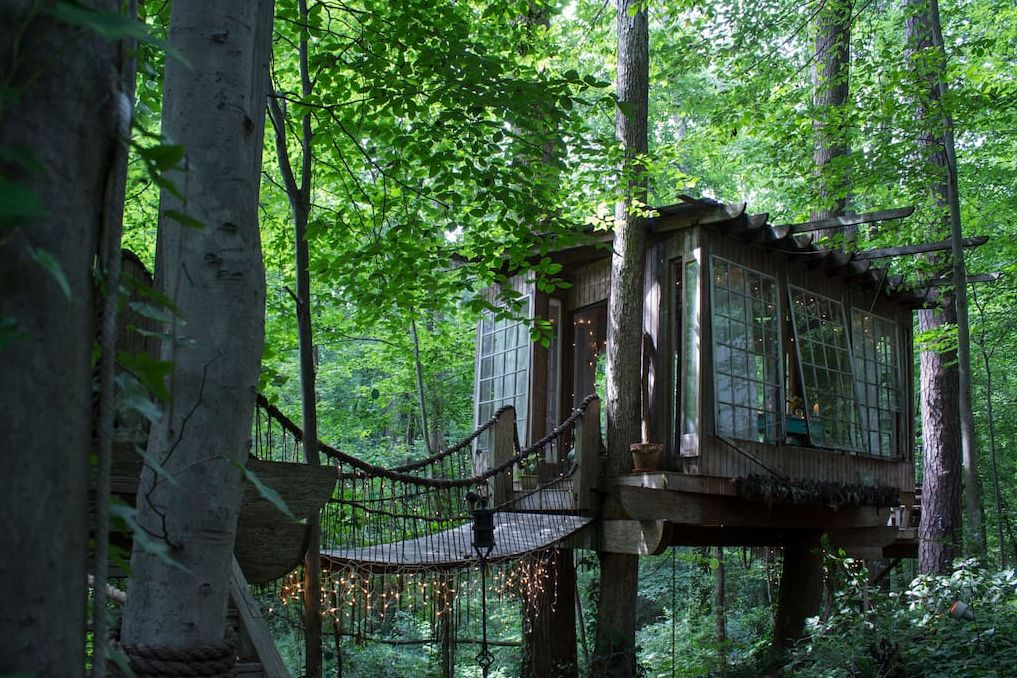 1556876277 266 15 amazing treehouse rentals take you off the grid in style - 15 Amazing Treehouse Rentals Take You Off The Grid In Style