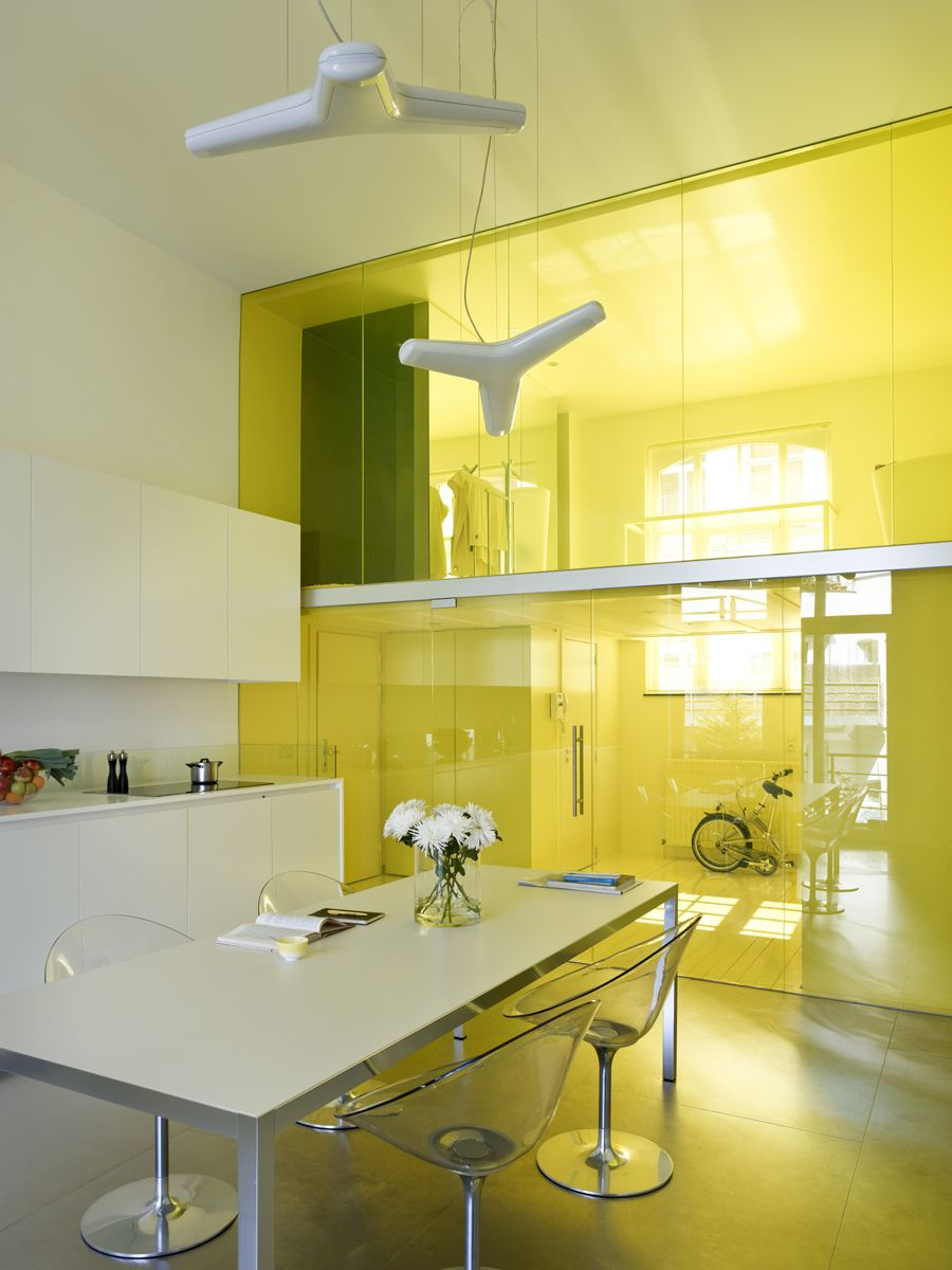 1557230088 32 remodeled loft inside old school building in brussels with yellow panache - Remodeled Loft Inside Old School Building in Brussels with Yellow Panache!