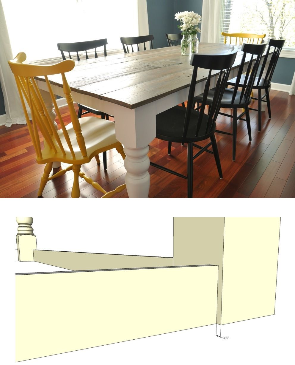 1557928868 23 diy farmhouse kitchen table projects for beginners - DIY Farmhouse Kitchen Table Projects For Beginners