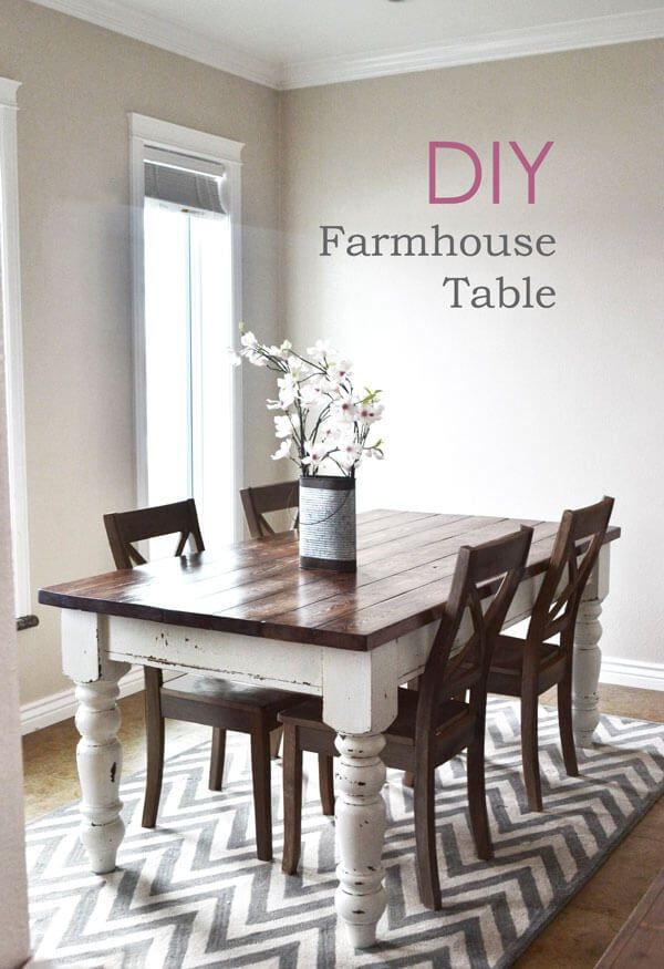 1557928868 88 diy farmhouse kitchen table projects for beginners - DIY Farmhouse Kitchen Table Projects For Beginners
