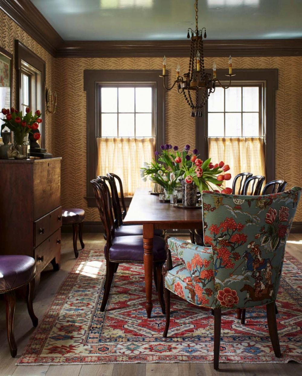 The dining room looks and feels more formal compared to the rest of the spaces yet remains very welcoming
