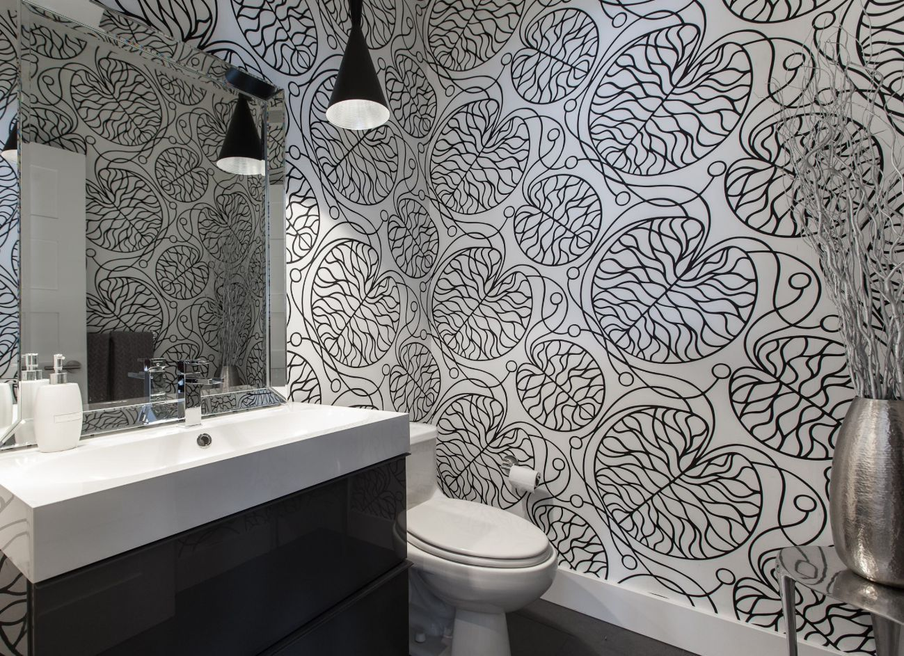 1558953966 467 black and white bathroom designs that show simple can also be interesting - Black and White Bathroom Designs That Show Simple Can Also Be Interesting