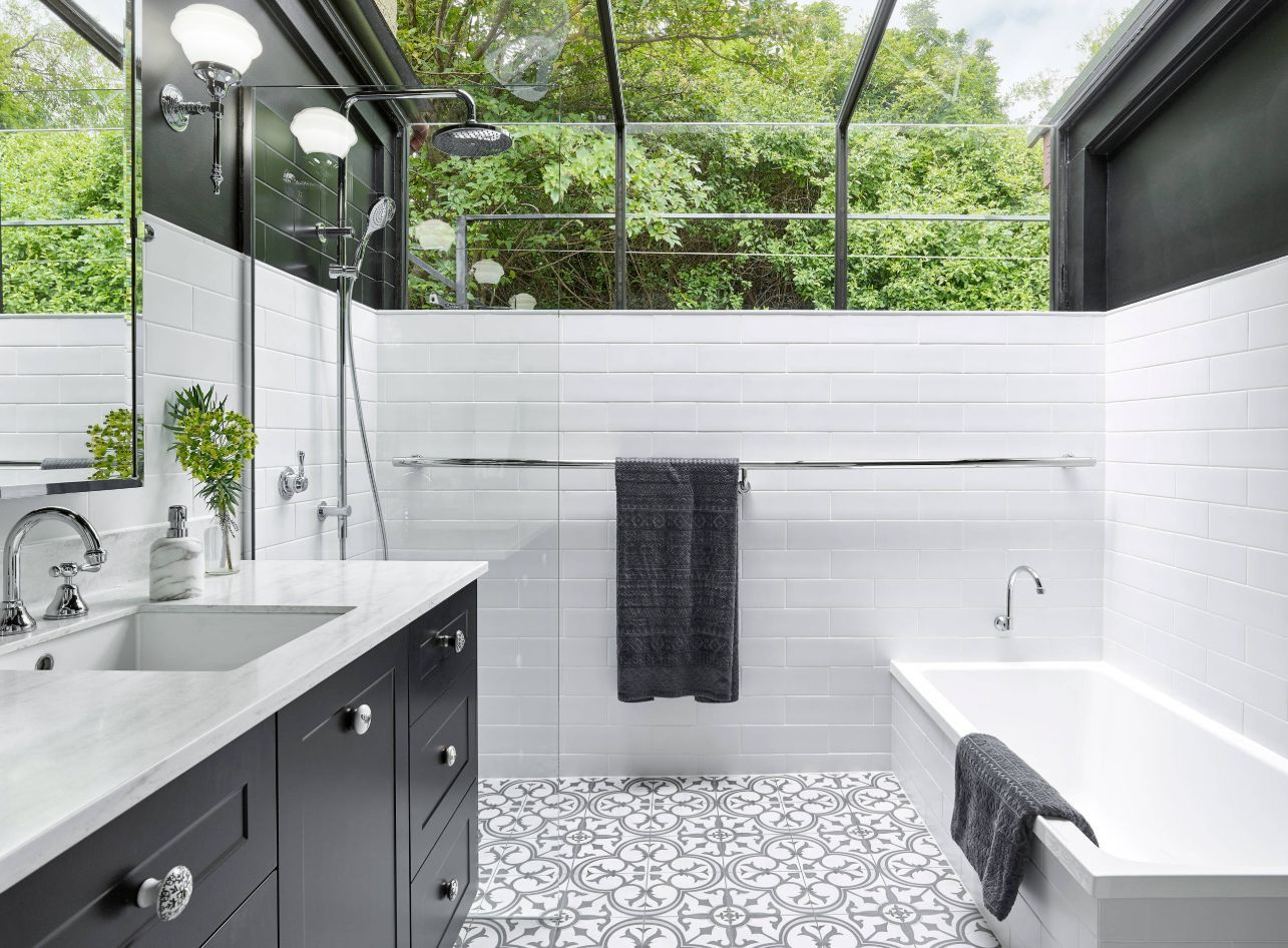 1558953966 610 black and white bathroom designs that show simple can also be interesting - Black and White Bathroom Designs That Show Simple Can Also Be Interesting