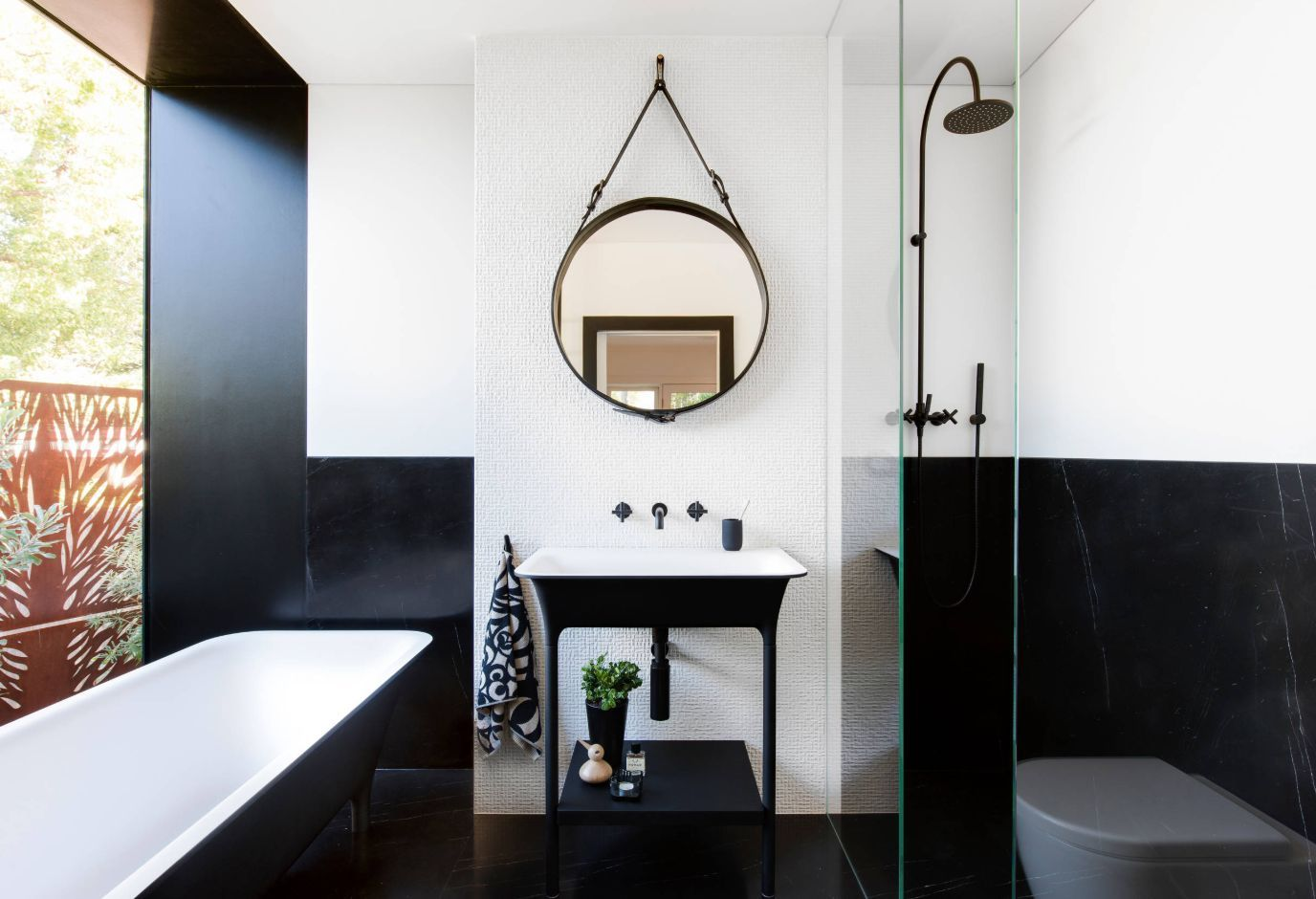 1558953966 845 black and white bathroom designs that show simple can also be interesting - Black and White Bathroom Designs That Show Simple Can Also Be Interesting