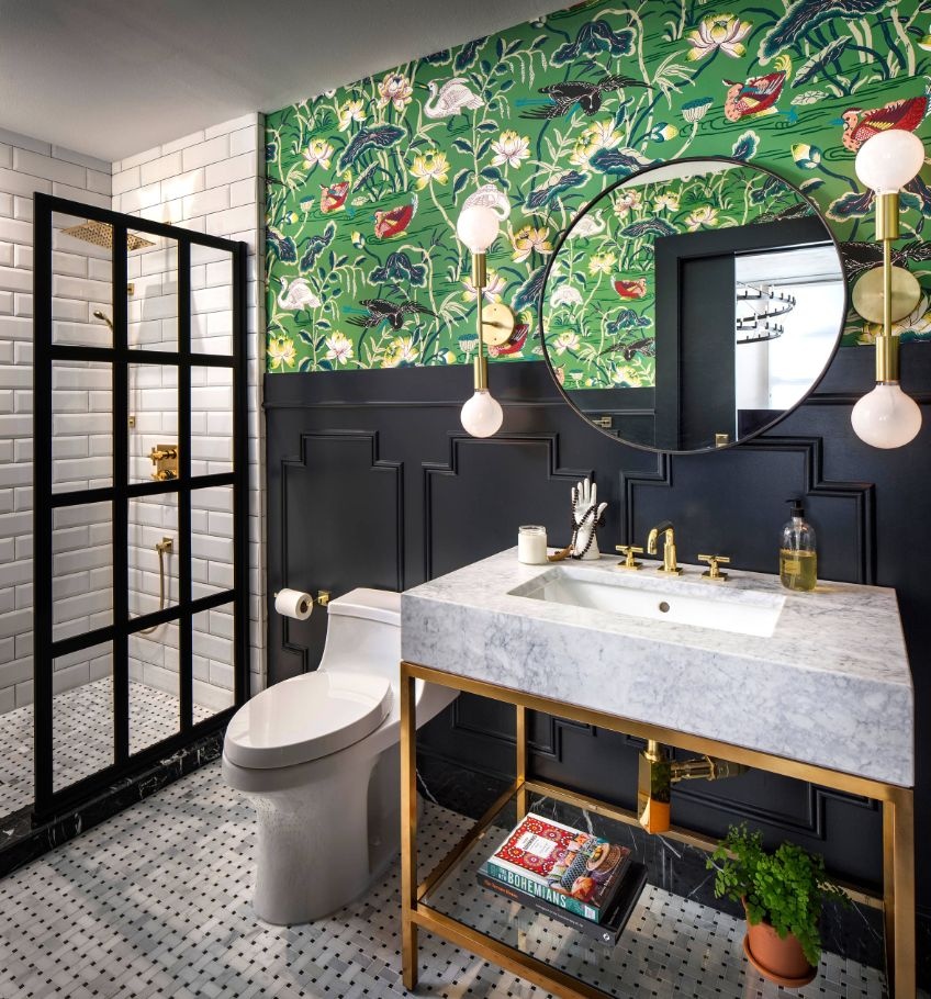 1558953967 298 black and white bathroom designs that show simple can also be interesting - Black and White Bathroom Designs That Show Simple Can Also Be Interesting