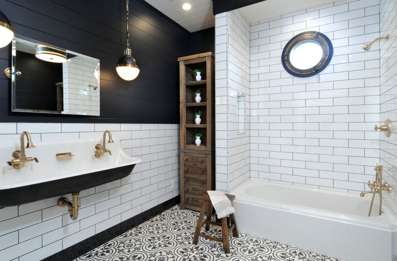 1558953967 35 black and white bathroom designs that show simple can also be interesting - Black and White Bathroom Designs That Show Simple Can Also Be Interesting