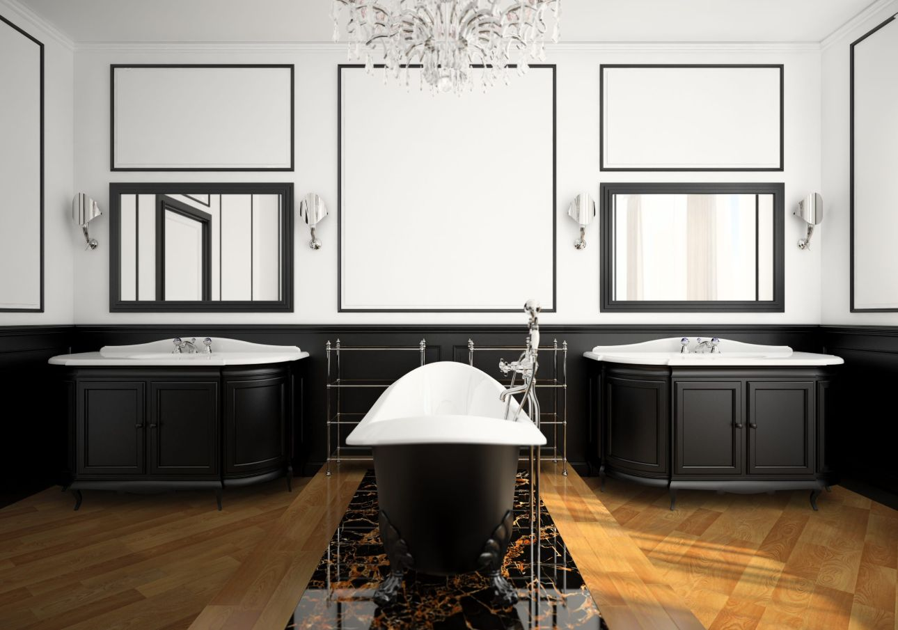 1558953967 772 black and white bathroom designs that show simple can also be interesting - Black and White Bathroom Designs That Show Simple Can Also Be Interesting