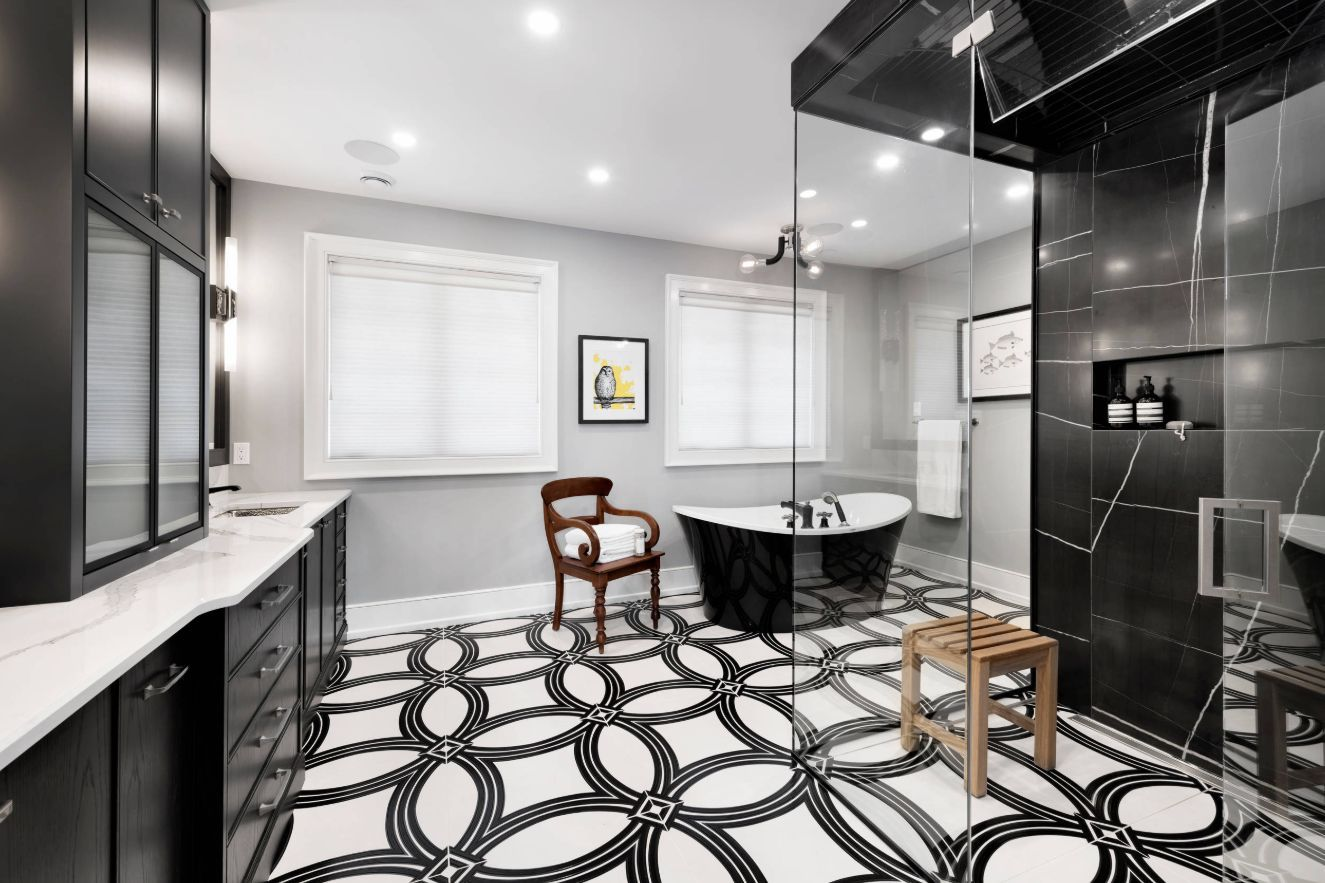 1558953967 879 black and white bathroom designs that show simple can also be interesting - Black and White Bathroom Designs That Show Simple Can Also Be Interesting