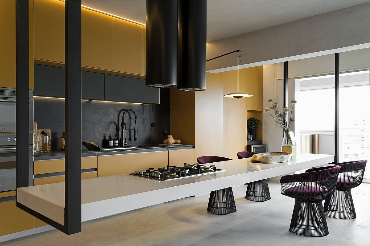 1559149558 322 amazing hanging island shapes this awesome penthouse kitchen in sao paulo - Amazing Hanging Island Shapes This Awesome Penthouse Kitchen in Sao Paulo