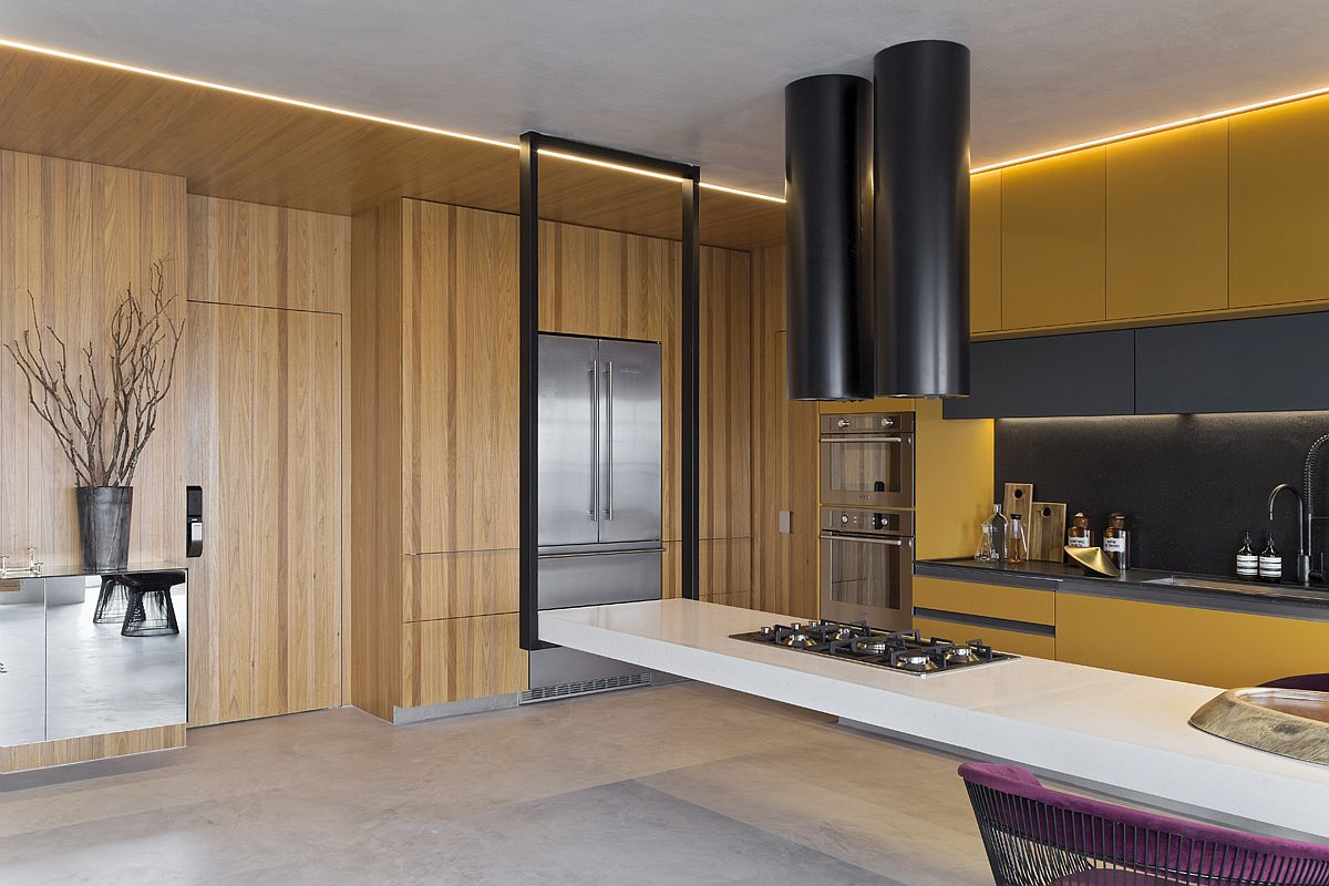 1559149558 415 amazing hanging island shapes this awesome penthouse kitchen in sao paulo - Amazing Hanging Island Shapes This Awesome Penthouse Kitchen in Sao Paulo
