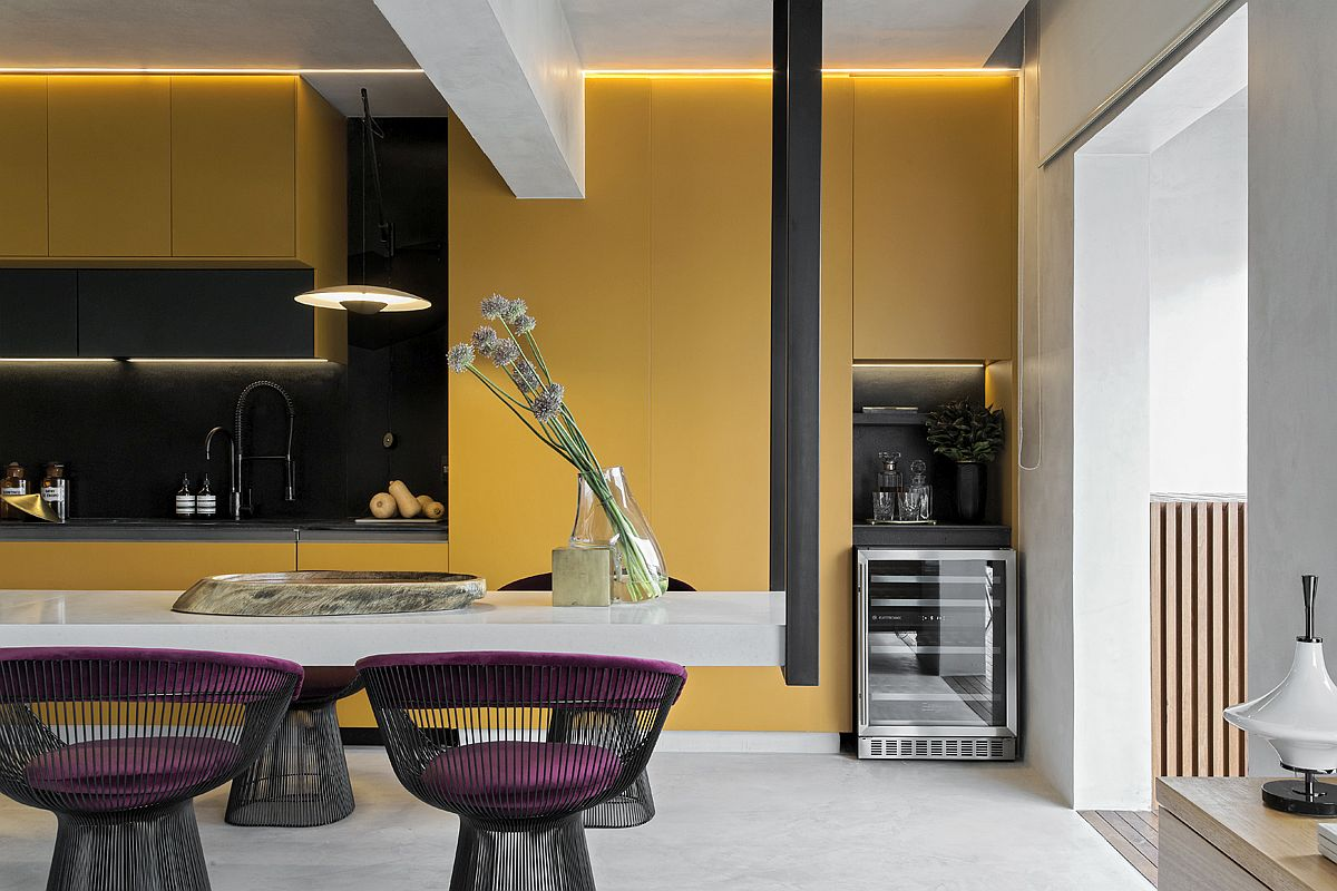 1559149558 693 amazing hanging island shapes this awesome penthouse kitchen in sao paulo - Amazing Hanging Island Shapes This Awesome Penthouse Kitchen in Sao Paulo