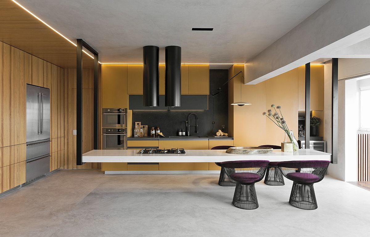 1559149558 836 amazing hanging island shapes this awesome penthouse kitchen in sao paulo - Amazing Hanging Island Shapes This Awesome Penthouse Kitchen in Sao Paulo