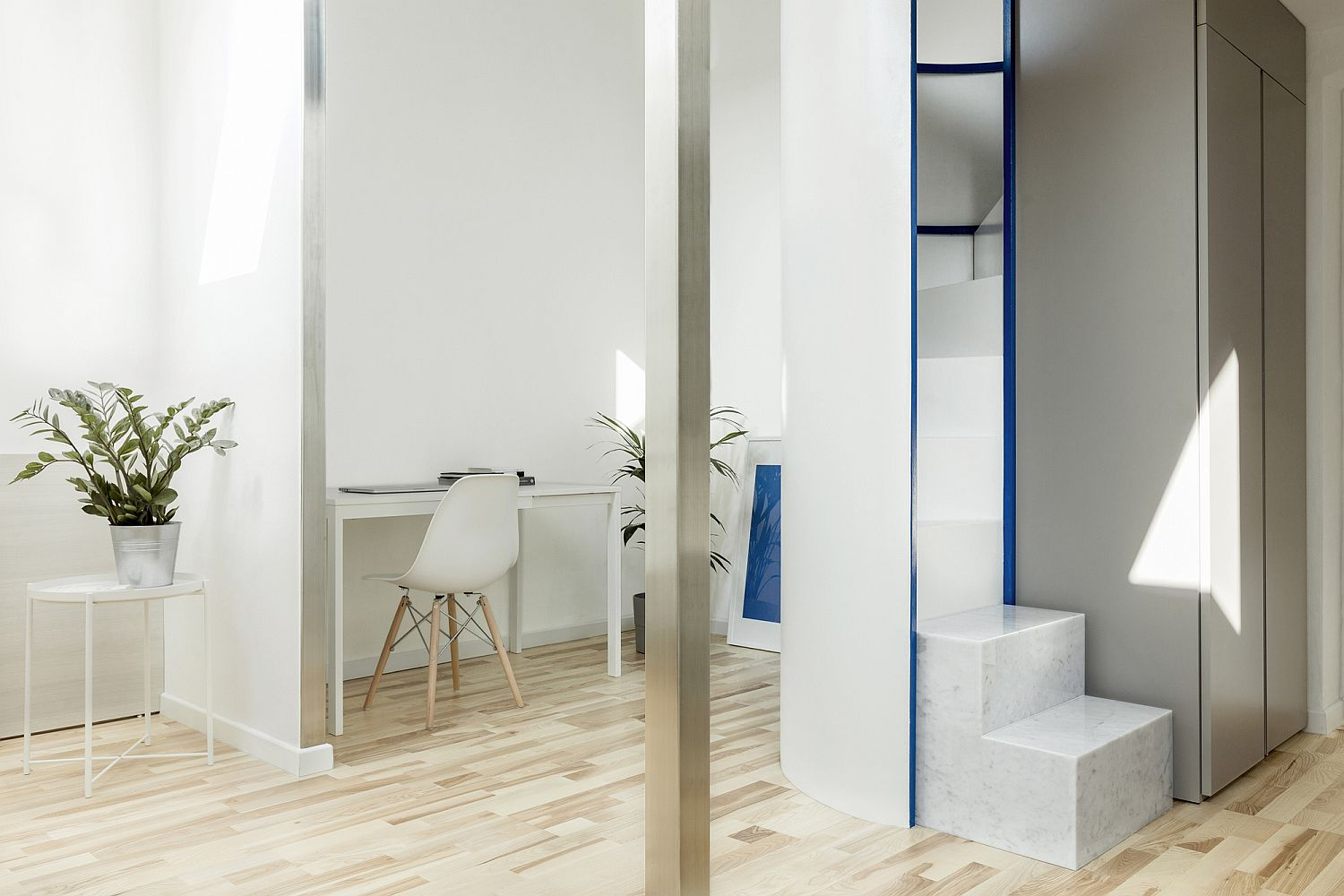 1559229132 224 compact white and wood apartment in milan maximizes space in style - Compact White and Wood Apartment in Milan Maximizes Space in Style