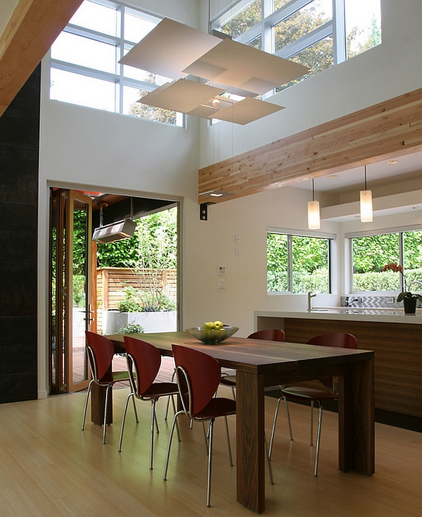Modern Dining room with a hint of rustic charm