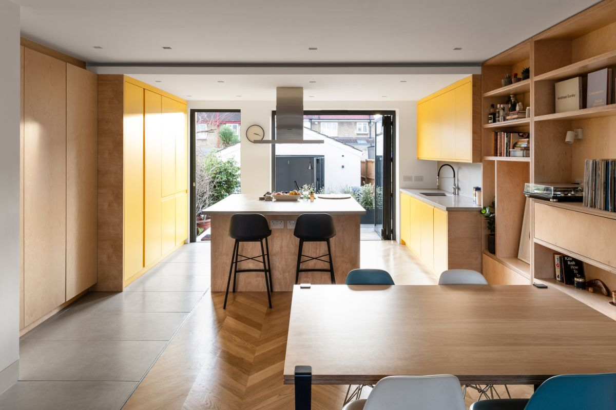 1560220597 433 mid century london house gets transformed into a modern and vibrant apartment - Mid-Century London House Gets Transformed Into A Modern And Vibrant Apartment