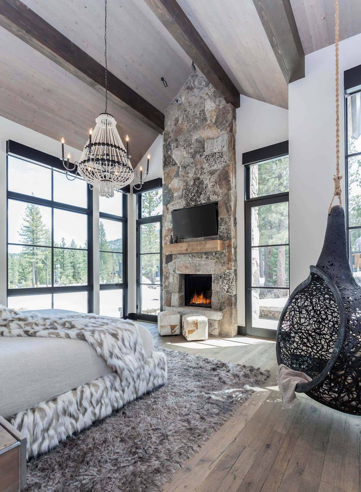 1560338048 173 cozy mountain retreat welcomes nature inside its charming rooms - Cozy Mountain Retreat Welcomes Nature Inside Its Charming Rooms