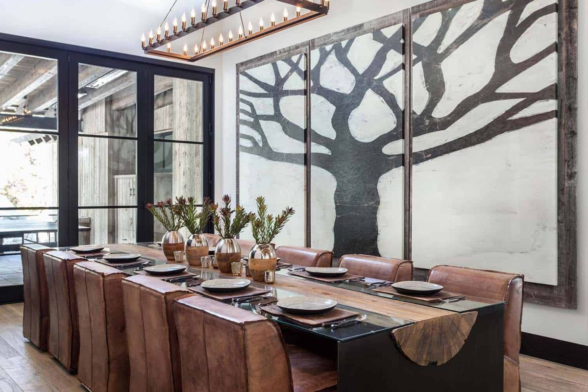 The half log dining table is unique and depicts a beautiful and strong connection with nature
