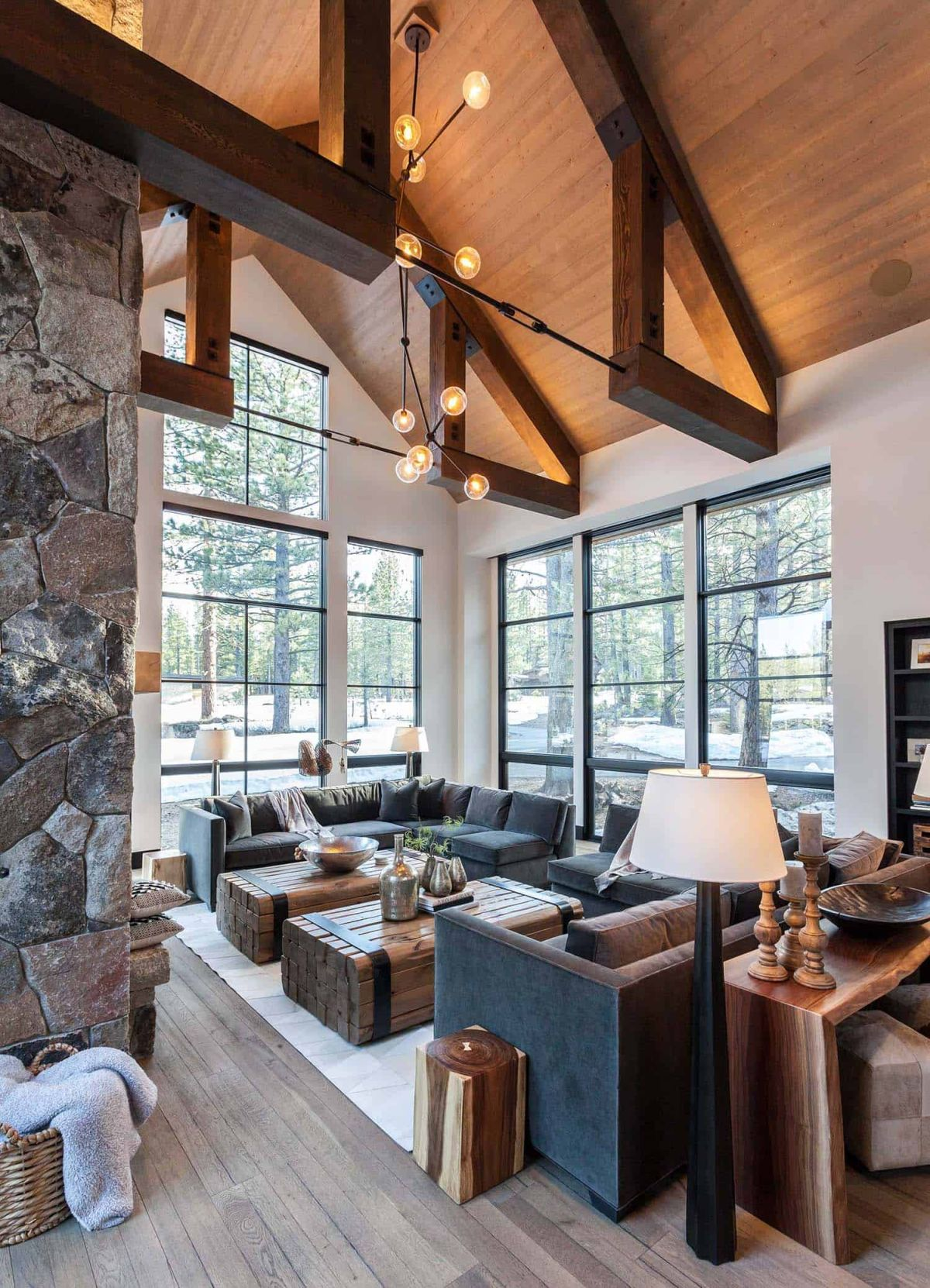 1560338048 697 cozy mountain retreat welcomes nature inside its charming rooms - Cozy Mountain Retreat Welcomes Nature Inside Its Charming Rooms