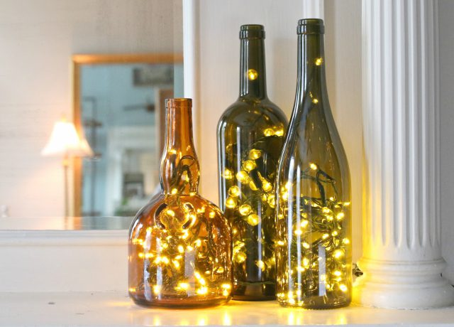 1560425026 118 15 wine bottle decor ideas easy with a touch of magic - 15 Wine Bottle Decor Ideas – Easy With A Touch Of Magic