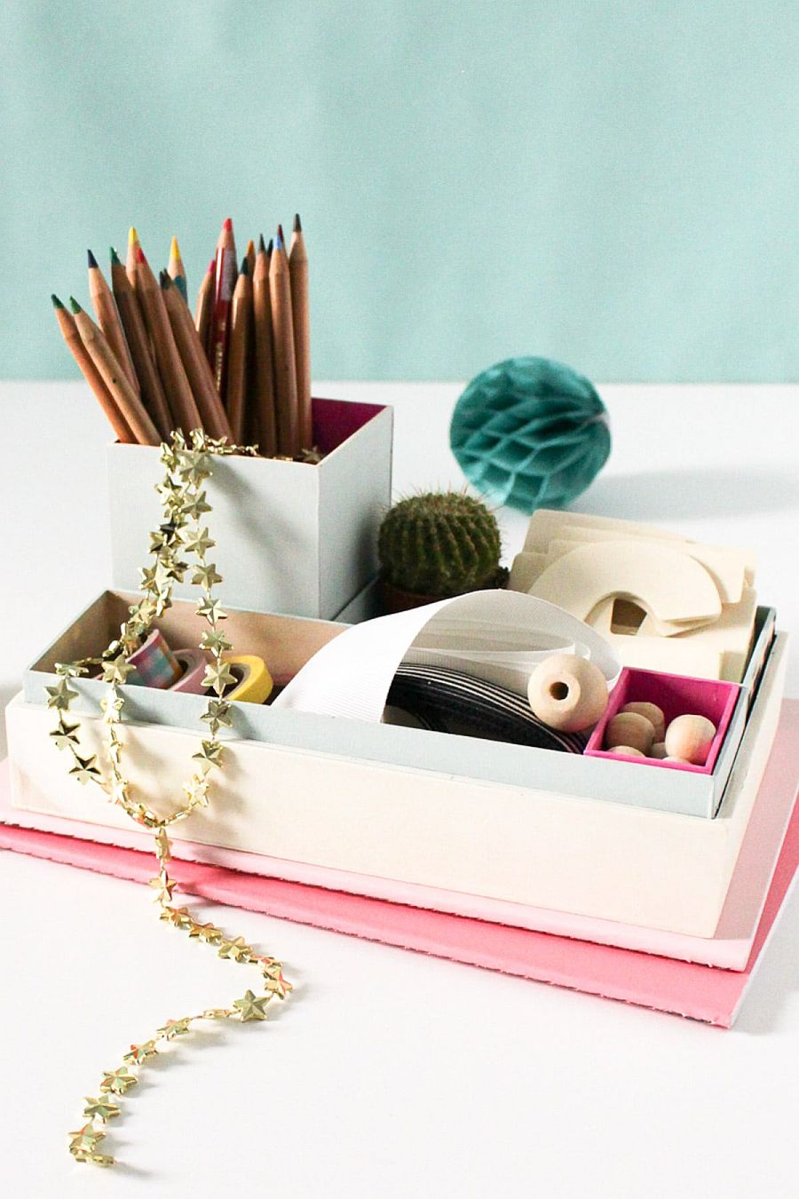 1560528386 489 20 diy desk organizer ideas and projects to try - 20 DIY Desk Organizer Ideas and Projects to Try