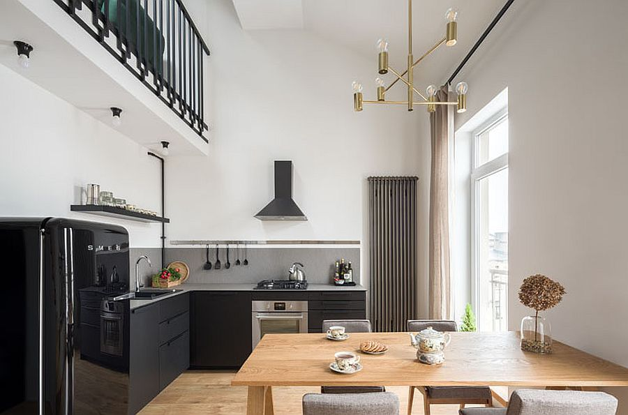 1561374944 274 space savvy tiny apartment in poland with mezzanine level in black and white - Space-Savvy Tiny Apartment in Poland with Mezzanine Level in Black and White