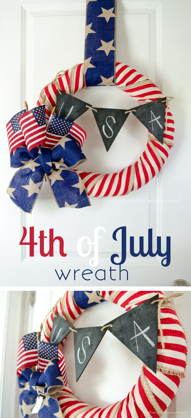 1561548146 146 cool 4th of july wreath ideas that would look perfect on your front door - Cool 4th of July Wreath Ideas That Would Look Perfect On Your Front Door