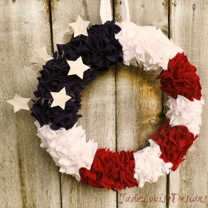1561548146 637 cool 4th of july wreath ideas that would look perfect on your front door - Cool 4th of July Wreath Ideas That Would Look Perfect On Your Front Door