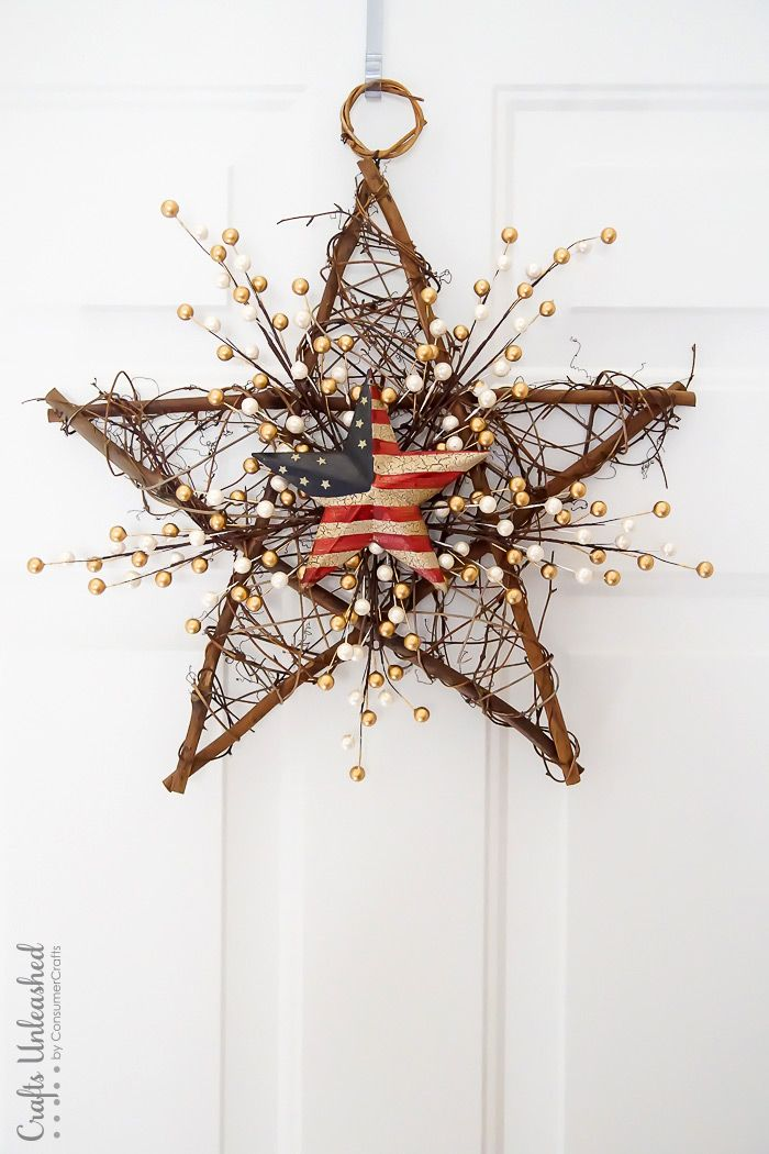 1561548147 585 cool 4th of july wreath ideas that would look perfect on your front door - Cool 4th of July Wreath Ideas That Would Look Perfect On Your Front Door