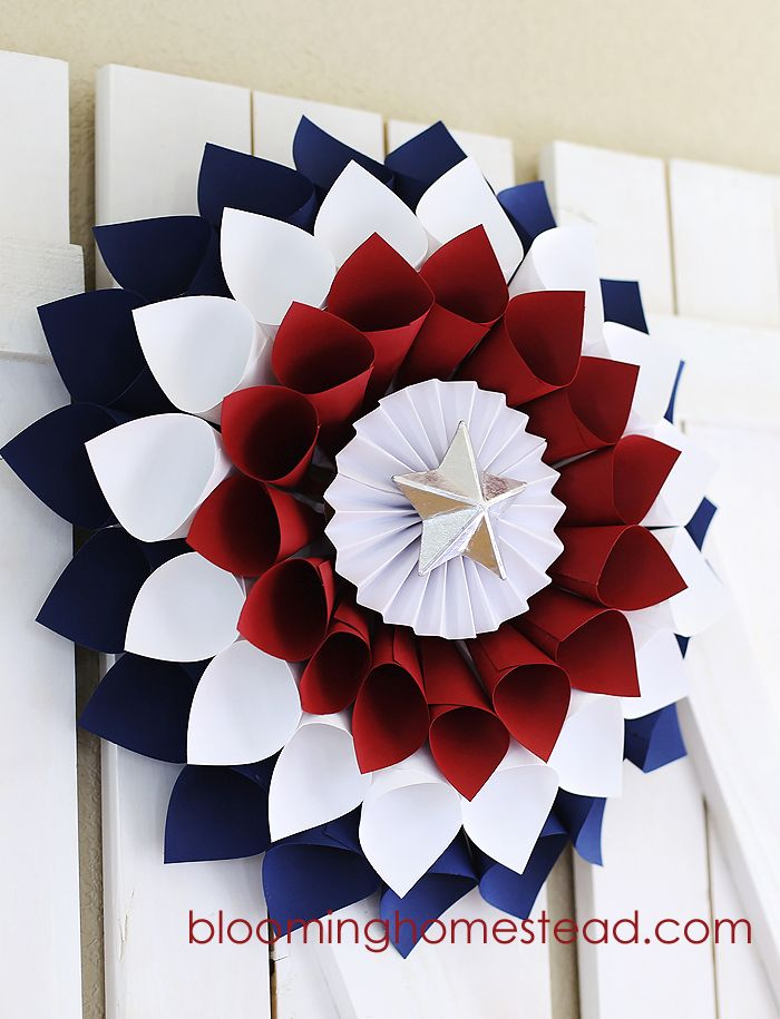 1561548147 669 cool 4th of july wreath ideas that would look perfect on your front door - Cool 4th of July Wreath Ideas That Would Look Perfect On Your Front Door