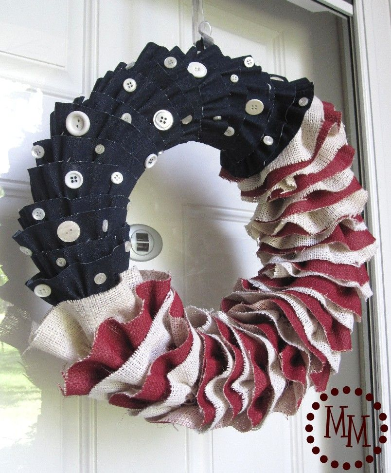 1561548147 875 cool 4th of july wreath ideas that would look perfect on your front door - Cool 4th of July Wreath Ideas That Would Look Perfect On Your Front Door