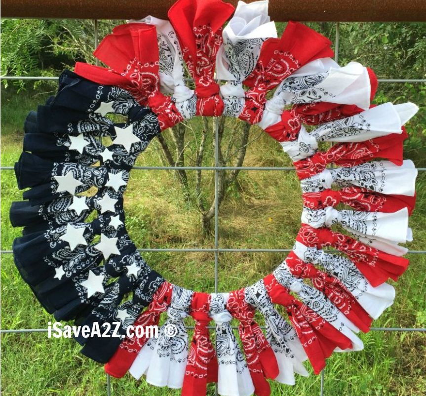 1561548147 992 cool 4th of july wreath ideas that would look perfect on your front door - Cool 4th of July Wreath Ideas That Would Look Perfect On Your Front Door