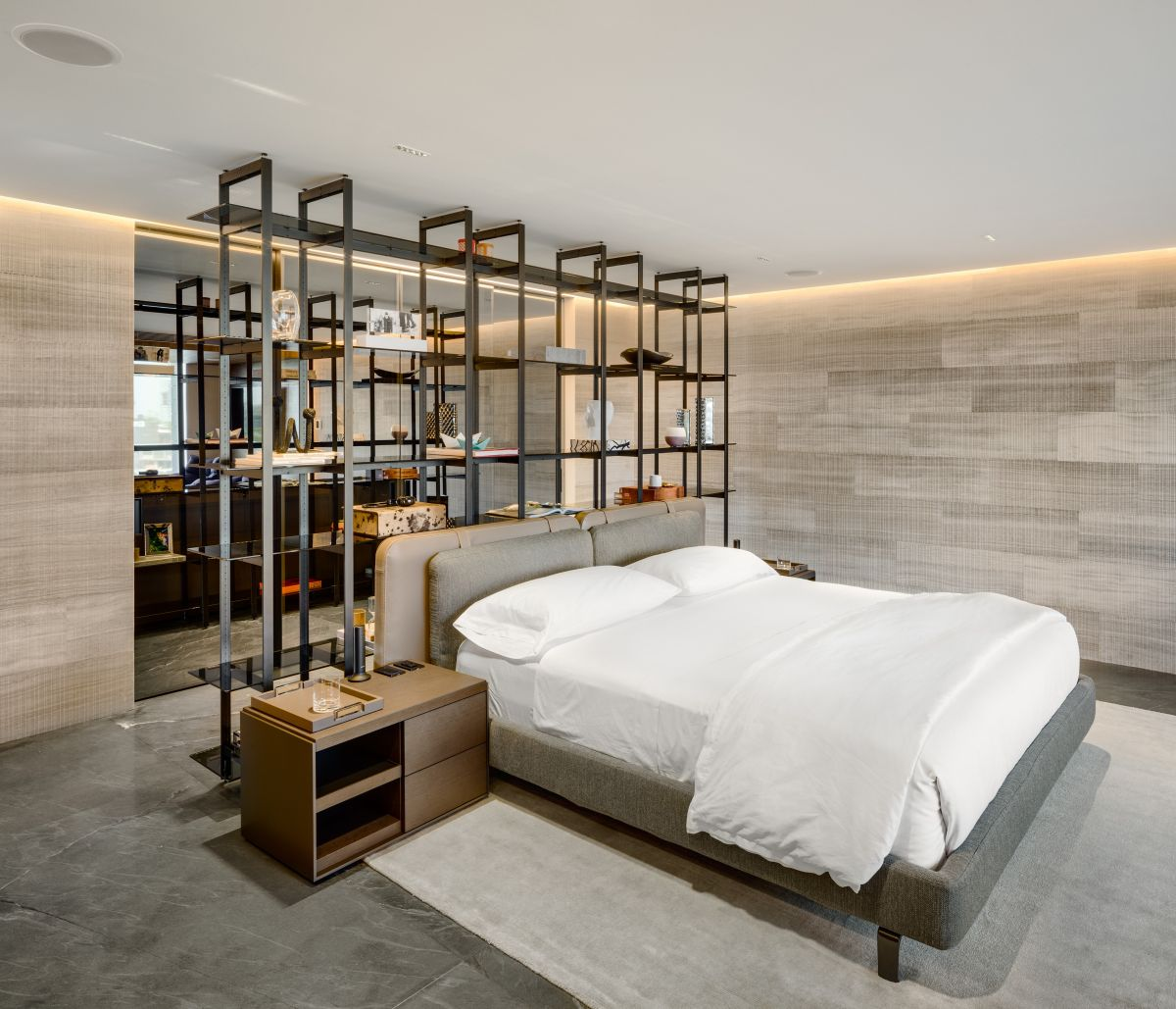 1561625248 897 modern bedroom shelves that really bring the room together - Modern Bedroom Shelves That Really Bring The Room Together