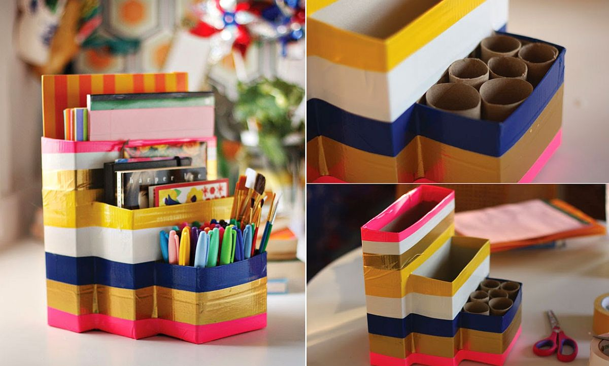20 diy desk organizer ideas and projects to try - 20 DIY Desk Organizer Ideas and Projects to Try