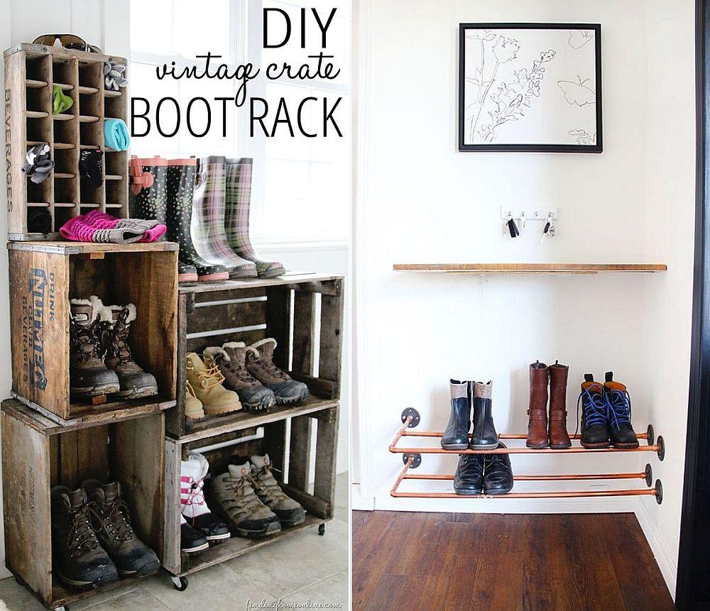 35 DIY Shoe Rack Ideas - 35 DIY Shoe Rack Ideas for Organized Homes