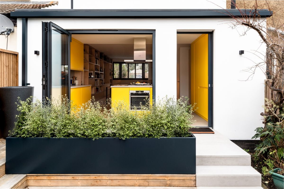 mid century london house gets transformed into a modern and vibrant apartment - Mid-Century London House Gets Transformed Into A Modern And Vibrant Apartment