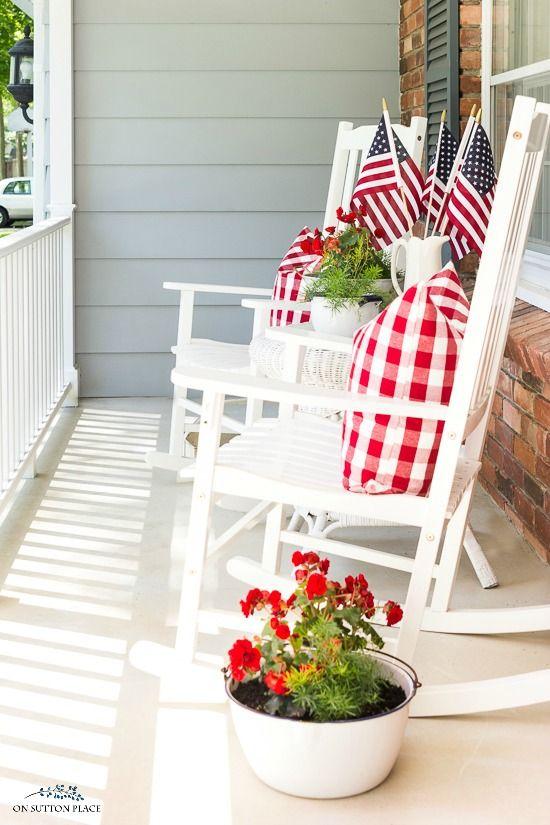 10 last minute 4th of july porch decor ideas - 10 Last Minute 4th of July Porch Decor Ideas