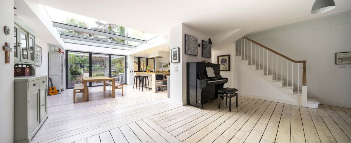 1562163598 466 london house extension with skylights and huge windows - London House Extension With Skylights And Huge Windows