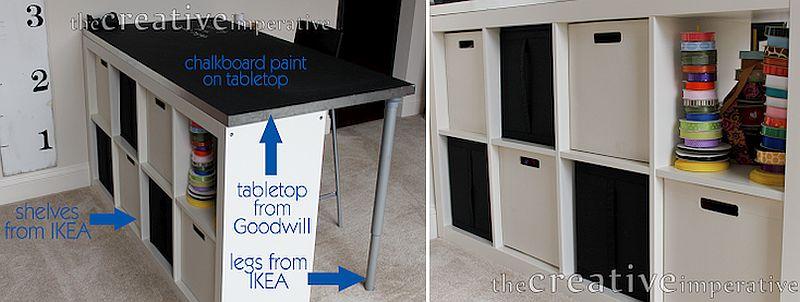 1562618322 663 20 diy craft tables and desks - 20 DIY Craft Tables and Desks